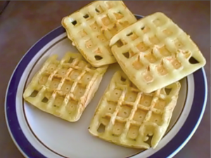 The Finished GF Rice Flour Waffles