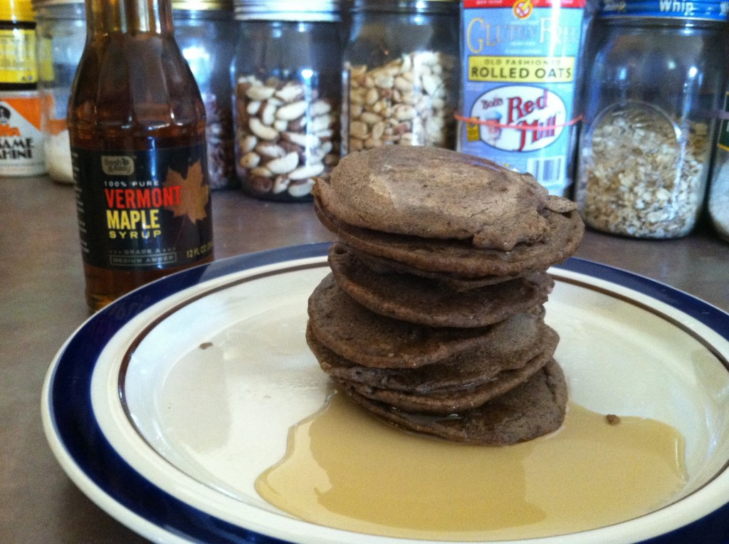 A tall stack of Gluten Free Buckwheat Pancakes